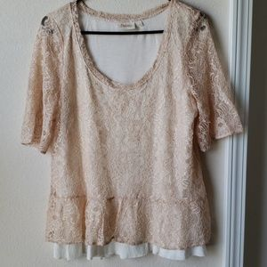 Anthropologie | Deletta Lace Peplum Blouse